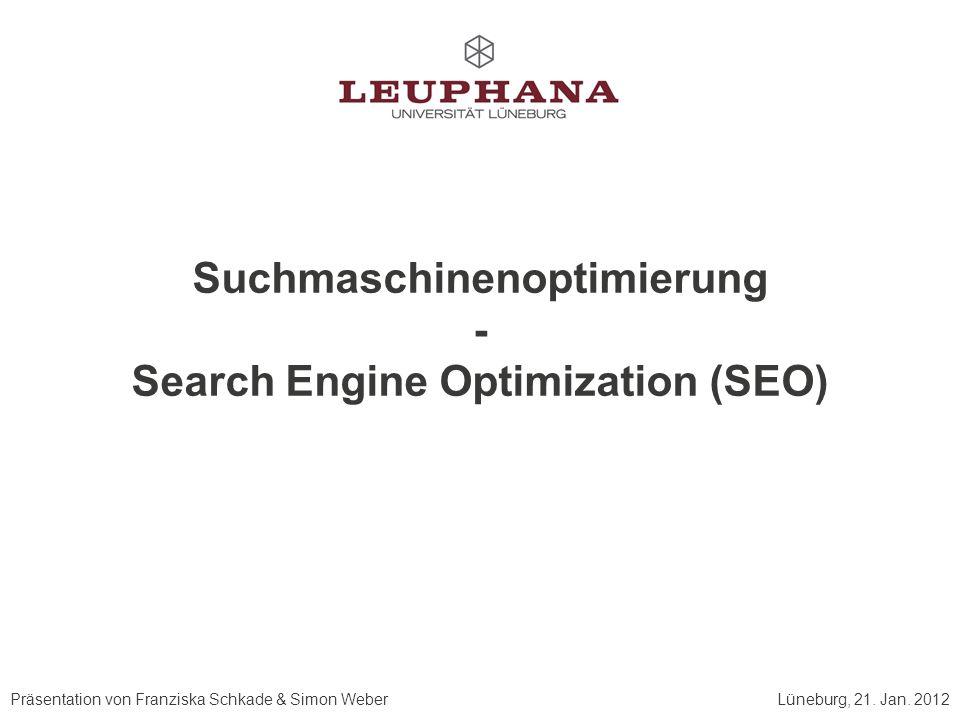 Präsentation von Franziska Schkade & Simon WeberLüneburg, 21.