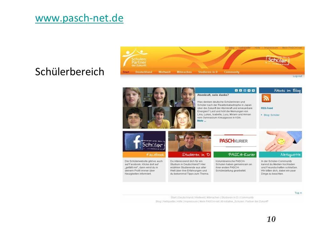 10 www.pasch-net.de Schülerbereich