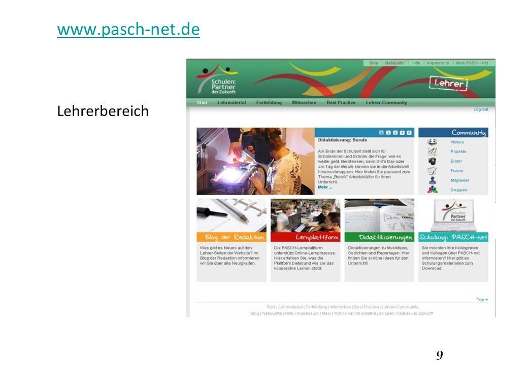 9 www.pasch-net.de Lehrerbereich