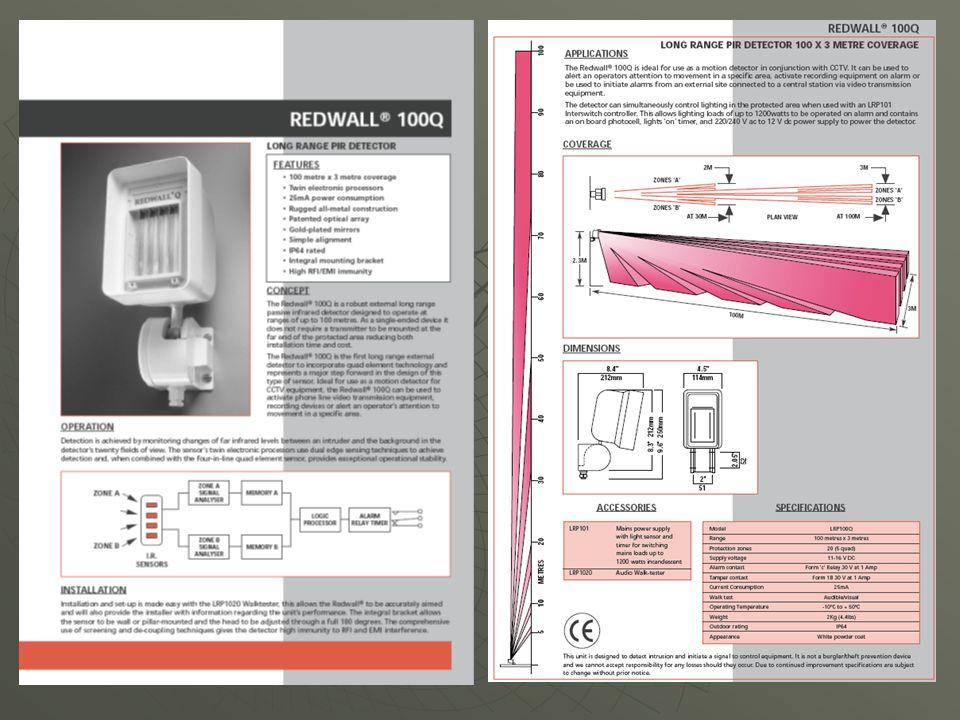 Die klassische Lösung Hochleistung´s gepulste aktive Lichtschranken überwachen nahtlos Teilbereiche bis max.