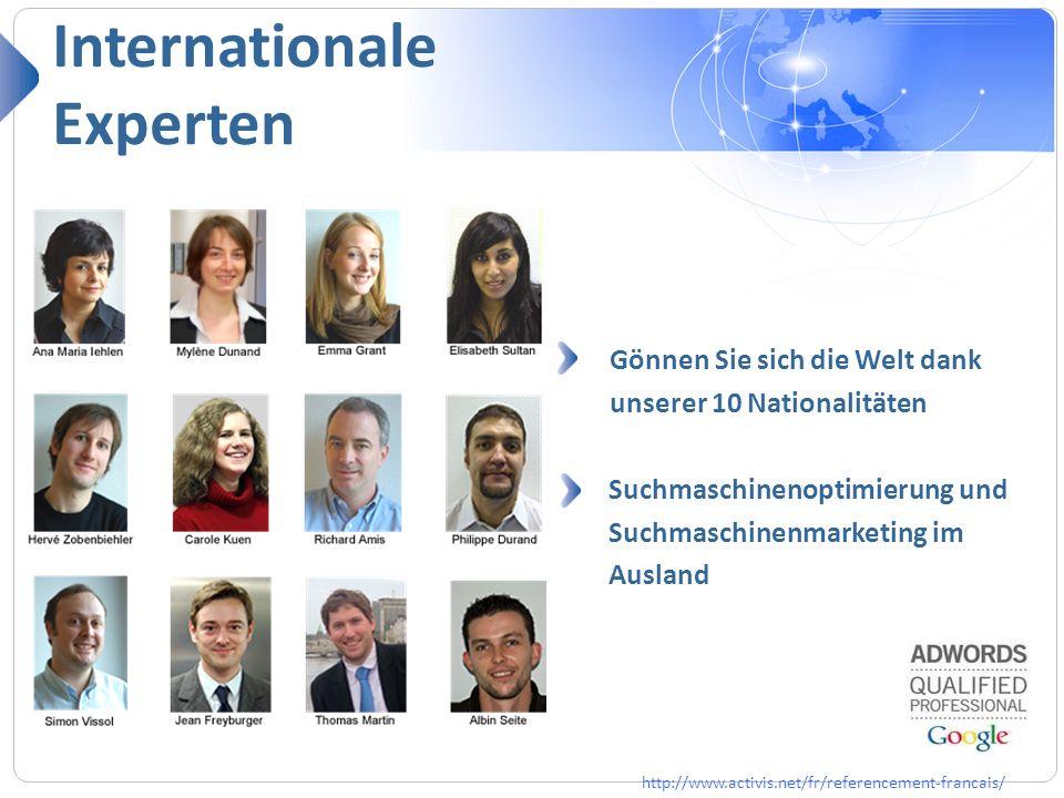 Internationale Experten Référencement naturel Référencement mobile Gönnen Sie sich die Welt dank unserer 10 Nationalitäten Suchmaschinenoptimierung un