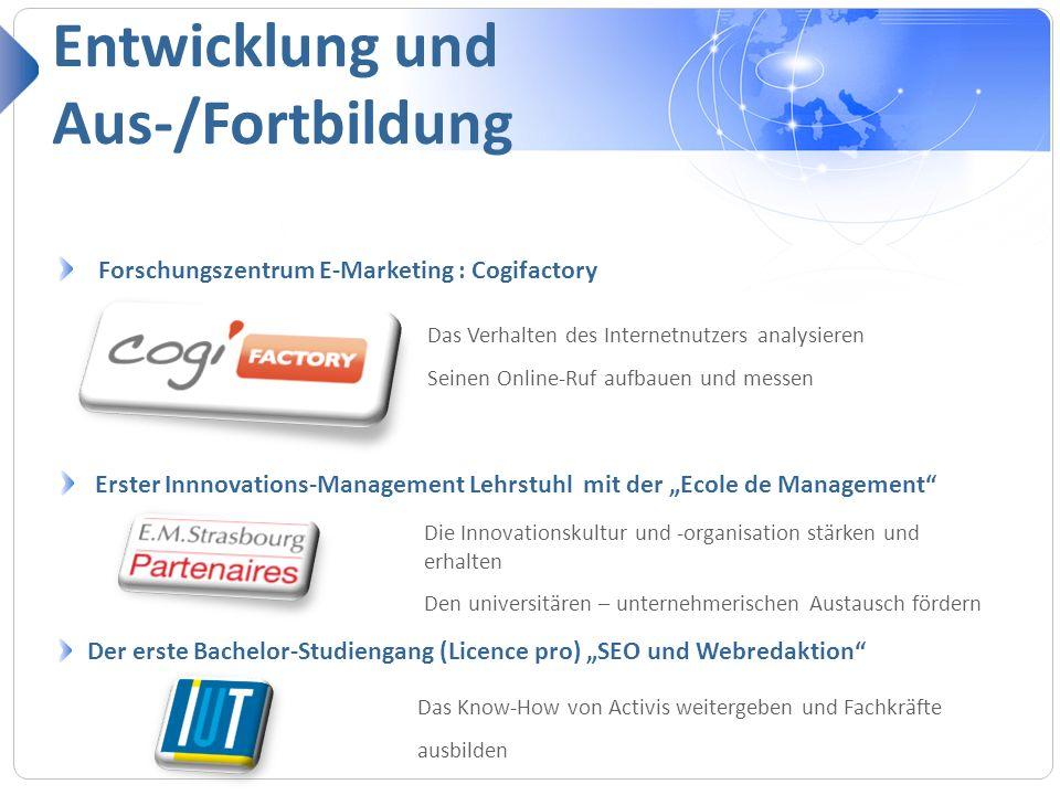 Forschungszentrum E-Marketing : Cogifactory Entwicklung und Aus-/Fortbildung Das Verhalten des Internetnutzers analysieren Seinen Online-Ruf aufbauen