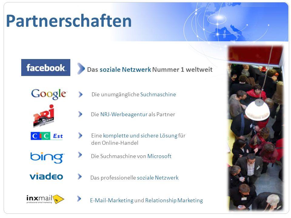 Partnerschaften Eine komplette und sichere Lösung für den Online-Handel Die Suchmaschine von Microsoft E-Mail-Marketing und Relationship Marketing Das