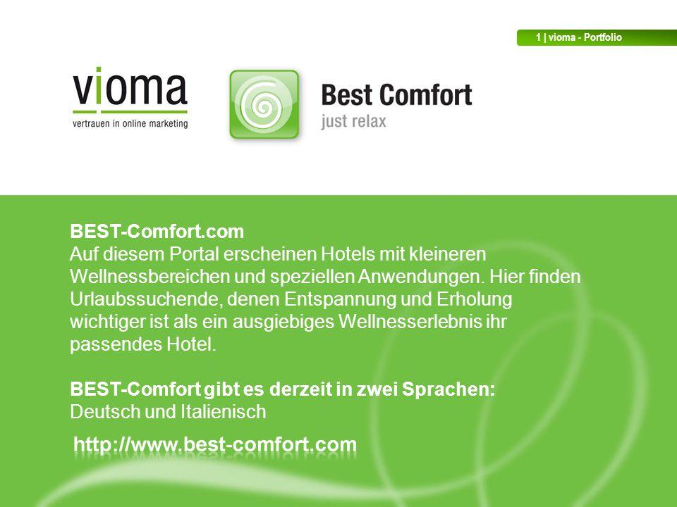 BEST-Comfort.com Auf diesem Portal erscheinen Hotels mit kleineren Wellnessbereichen und speziellen Anwendungen.