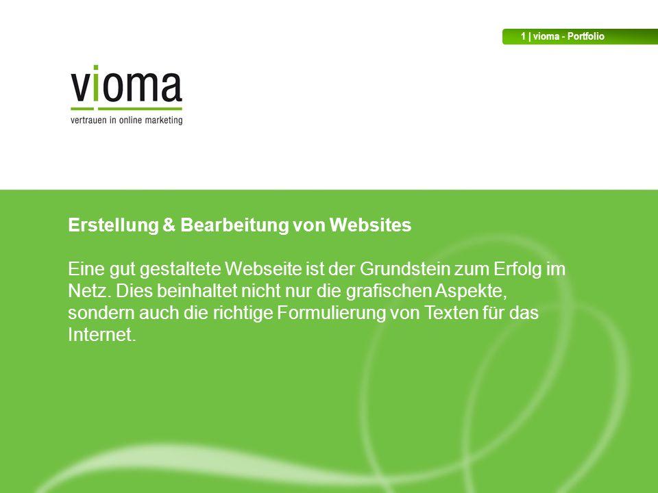 Erstellung & Bearbeitung von Websites Eine gut gestaltete Webseite ist der Grundstein zum Erfolg im Netz.
