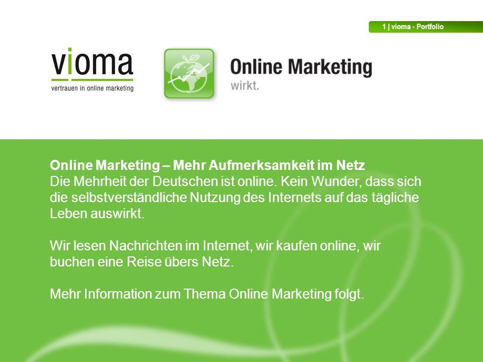 Online Marketing – Mehr Aufmerksamkeit im Netz Die Mehrheit der Deutschen ist online.
