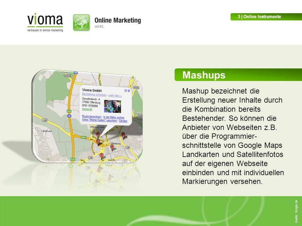 Mashups Mashup bezeichnet die Erstellung neuer Inhalte durch die Kombination bereits Bestehender.