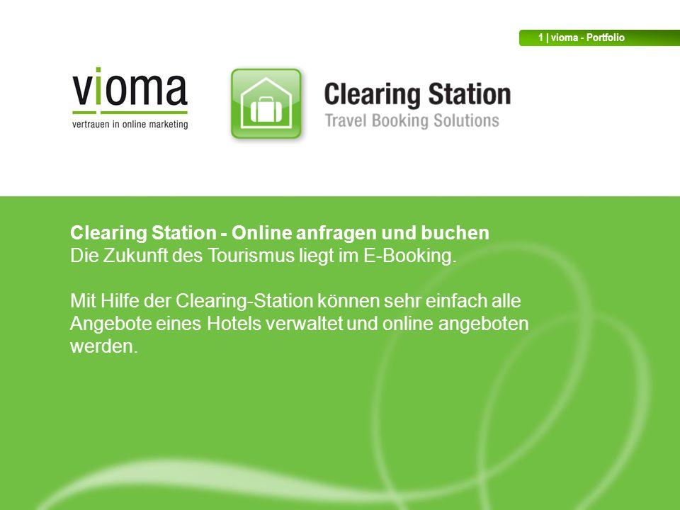 Clearing Station - Online anfragen und buchen Die Zukunft des Tourismus liegt im E-Booking.