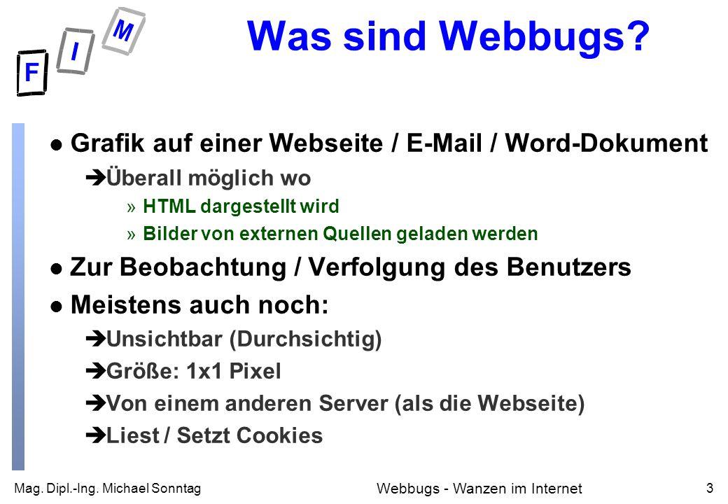 Mag. Dipl.-Ing. Michael Sonntag3 Webbugs - Wanzen im Internet Was sind Webbugs.