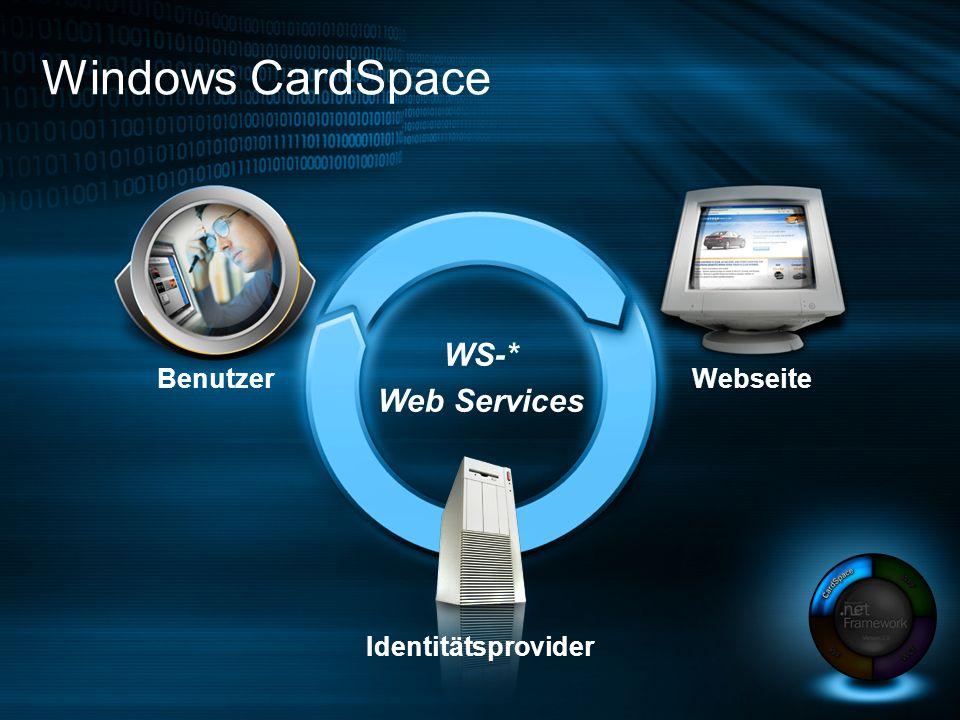 WS-* Web Services Windows CardSpace Benutzer Webseite Identitätsprovider