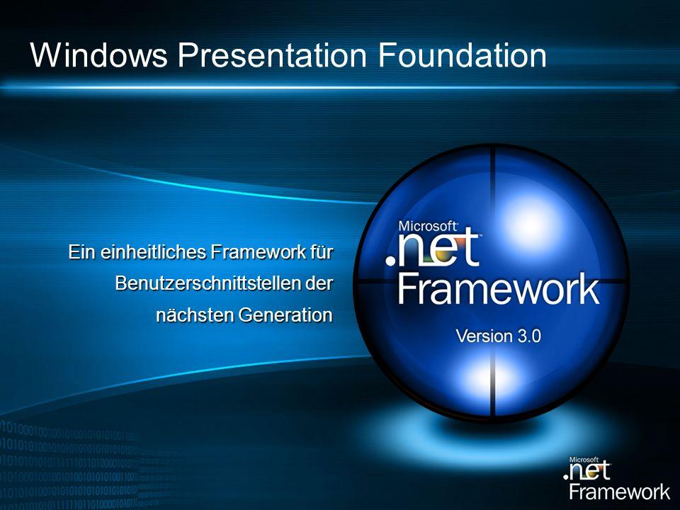Windows Presentation Foundation Ein einheitliches Framework für Benutzerschnittstellen der nächsten Generation