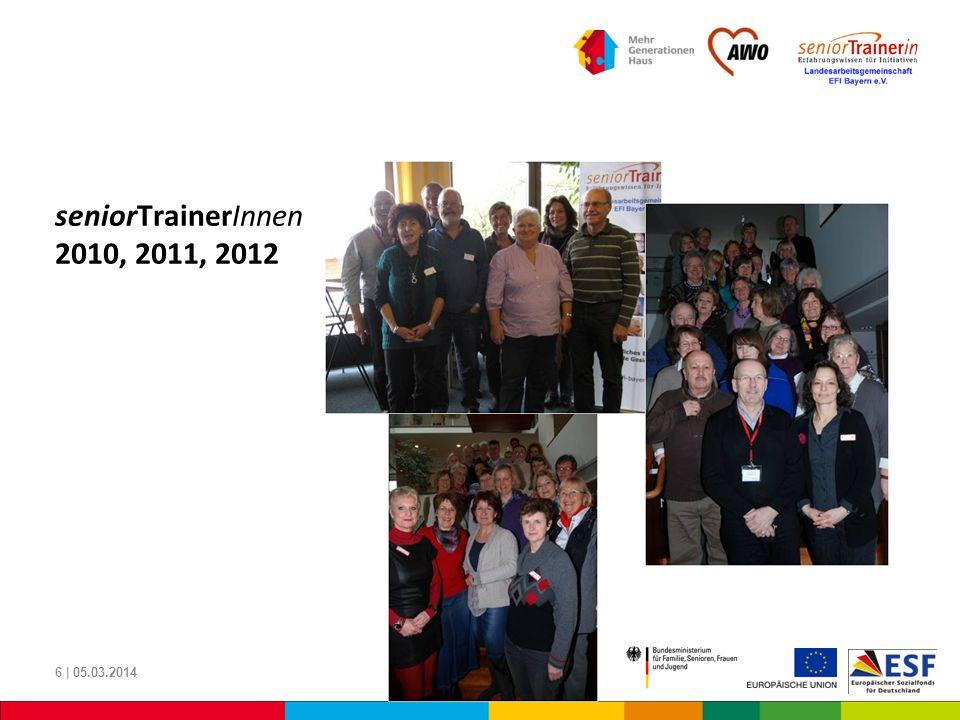 seniorTrainerInnen 2010, 2011, 2012 6 | 05.03.2014