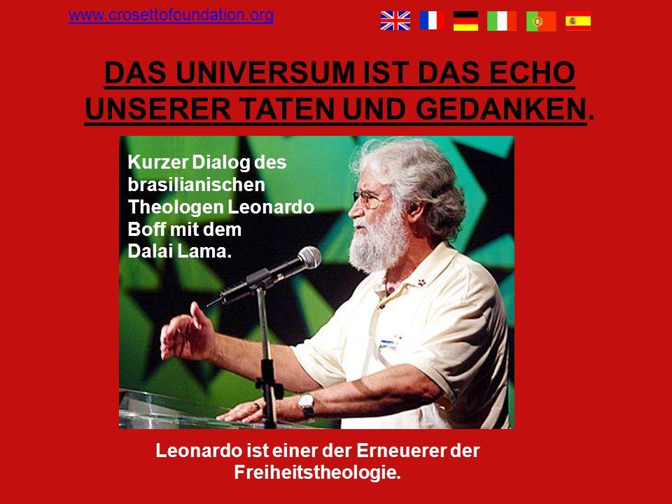 Kurzer Dialog des brasilianischen Theologen Leonardo Boff mit dem Dalai Lama.