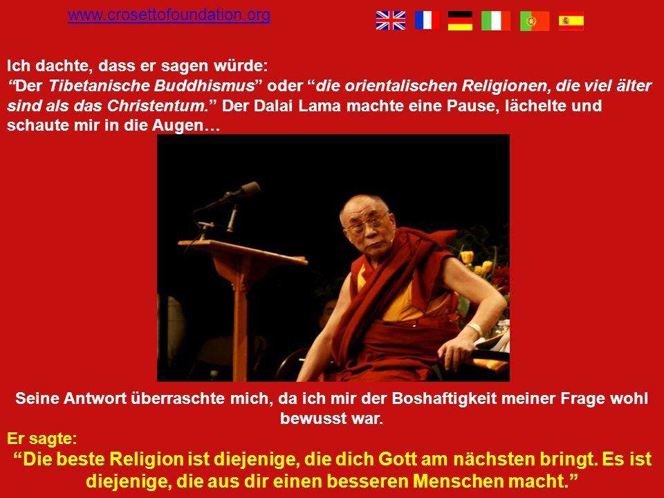 Anschließend an eine Diskussion über Religion und Freiheit habe ich den Dalai Lama etwas boshaft und aus Neugierde gefragt: Ihre Heiligkeit, welches i