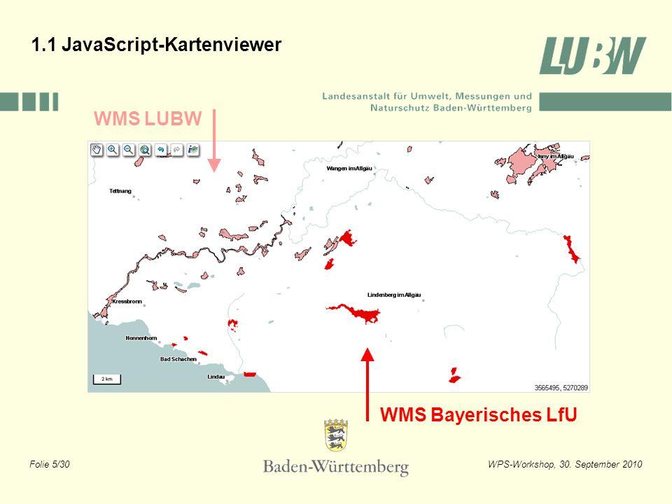 Folie 26/30WPS-Workshop, 30. September 2010 2.3 GISterm Web