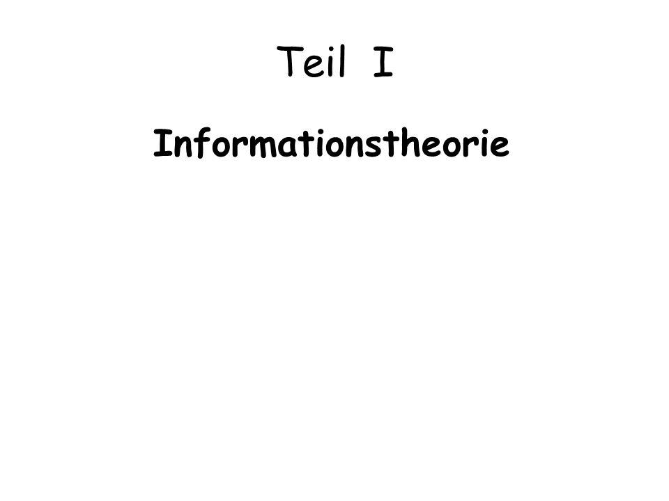 Teil I Informationstheorie