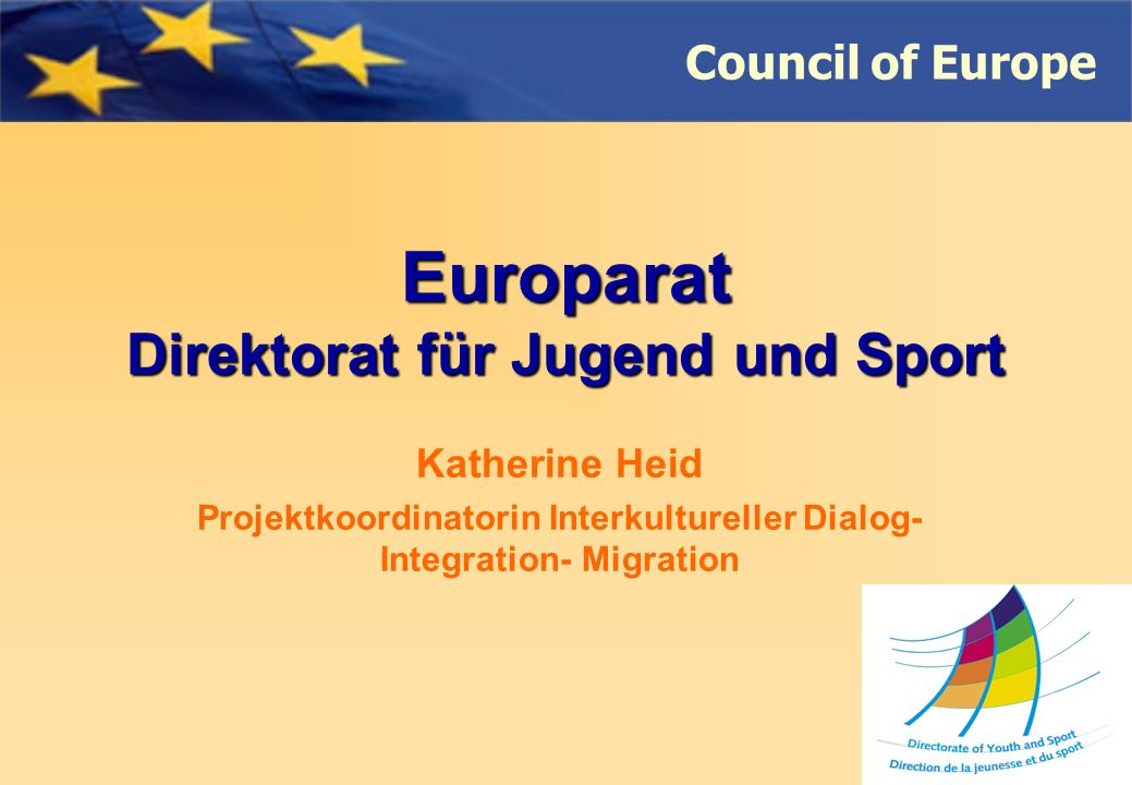 Council of Europe Kontakt eyf@coe.int