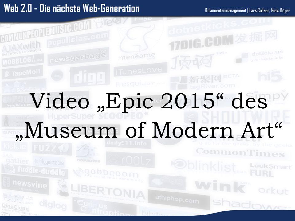 Video Epic 2015 des Museum of Modern Art