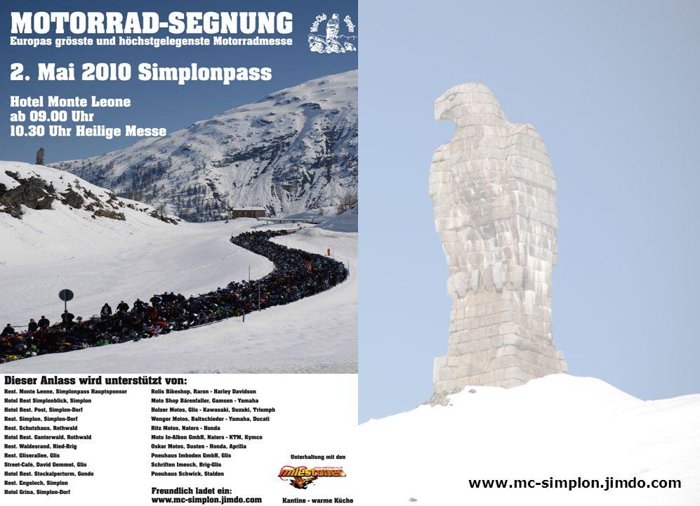 Alle Jahre wieder, beginnt die Motorradsaison mit der traditionellen Motorradsegnung auf dem Simplon Pass.