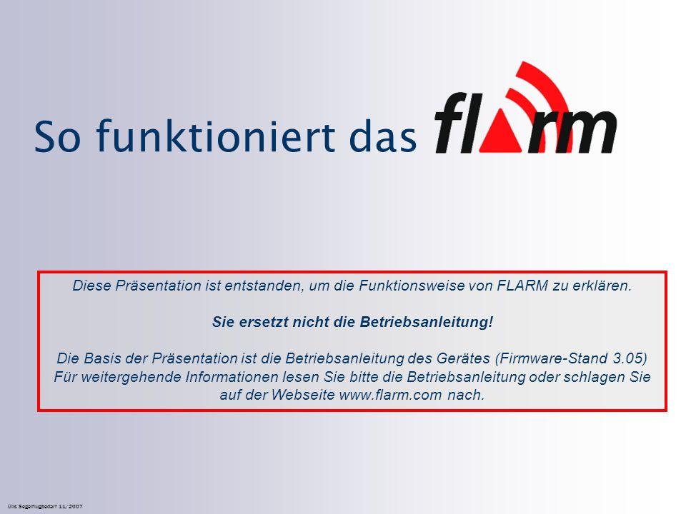 So funktioniert das Diese Präsentation ist entstanden, um die Funktionsweise von FLARM zu erklären.