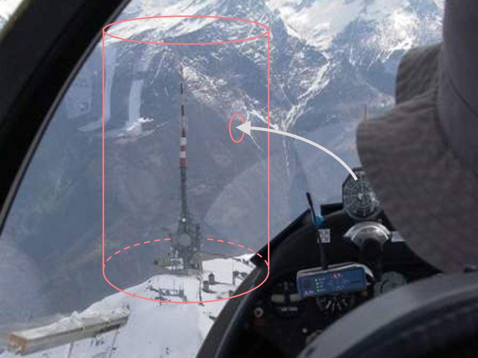 Erkennung von festen Hindernissen Die 4 oberen LEDS blinken paarweise Die Geschwindigkeit hängt von der Nähe des Hindernisses ab + Ton 11 000 Hindernisse in den Alpen (01/2007) Die Gefahr kommt immer von vorne Keine relative Höhenangabe Ülis Segelflugbedarf 11/2007