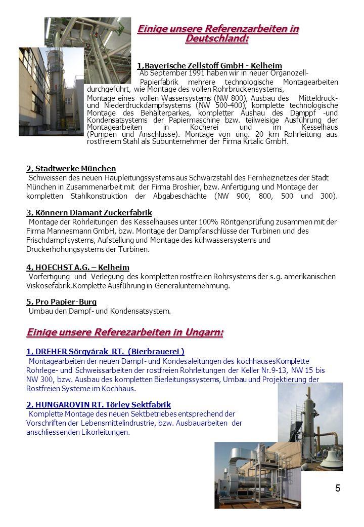 6 3, Balatonboglári Borgazdasági RT, Borászati Üzem (Weinkombinat in Balatonboglár,Weinbaubetrieb) Ausführungsarbeiten der rostfreien Fernleitung NW 80 und Projektierung bzw.