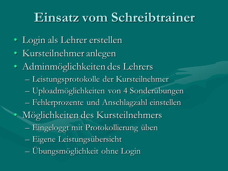 Online-Trainer von Thomas Schroffenegger www.schreibtrainer.com