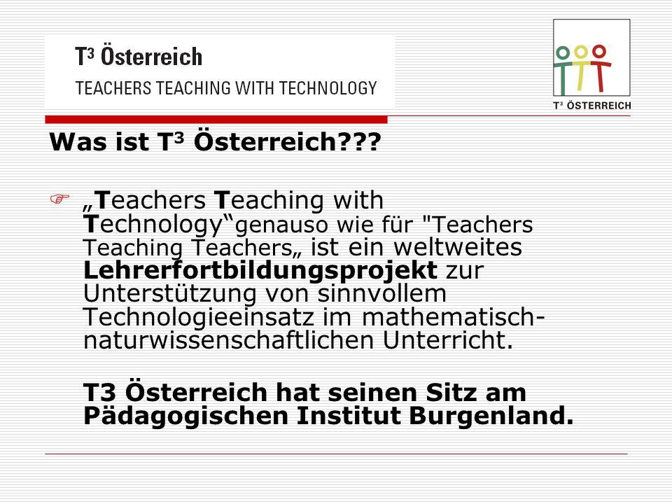 Was ist T 3 Österreich??? Teachers Teaching with Technology genauso wie für
