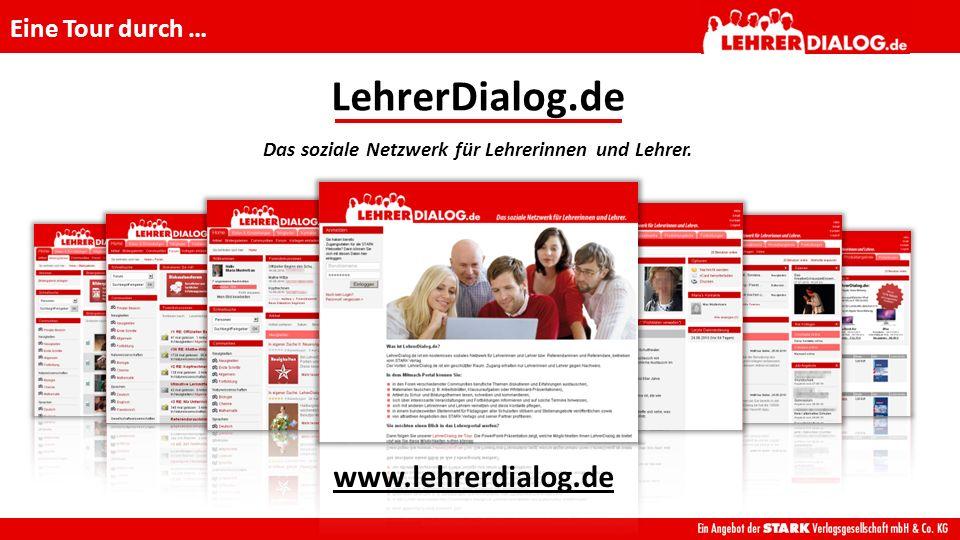 Wie sieht LehrerDialog.de aus? nach dem Einloggen: Die Home-Seite vor dem Einloggen