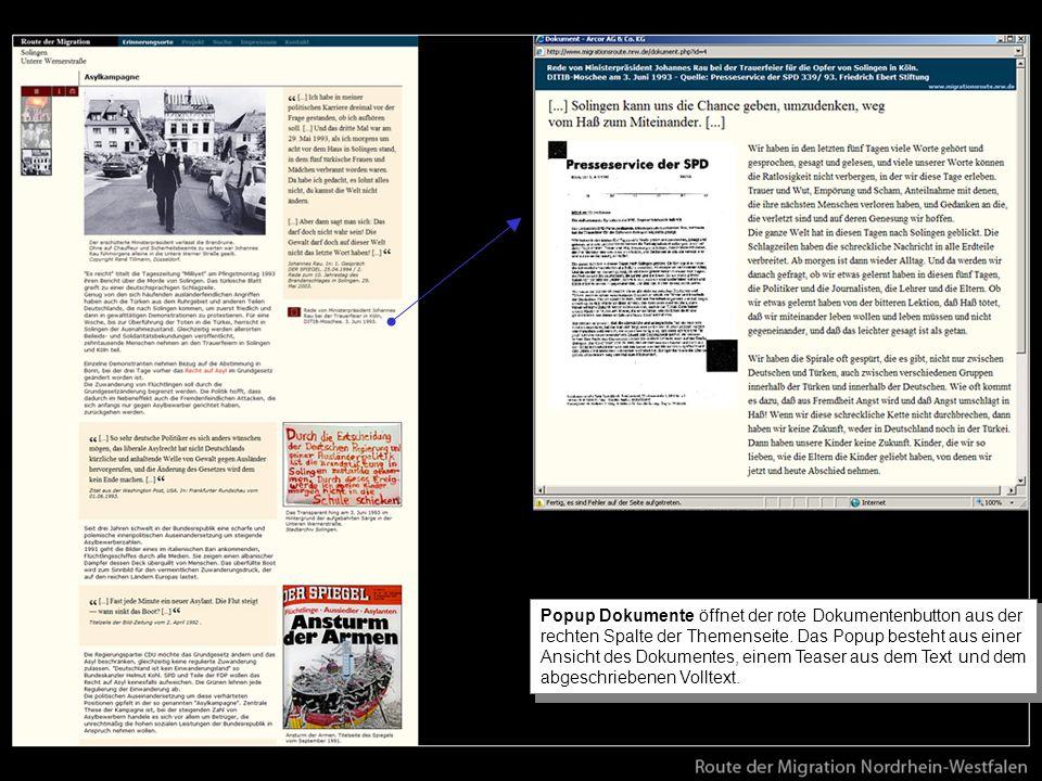 Popup Dokumente öffnet der rote Dokumentenbutton aus der rechten Spalte der Themenseite.