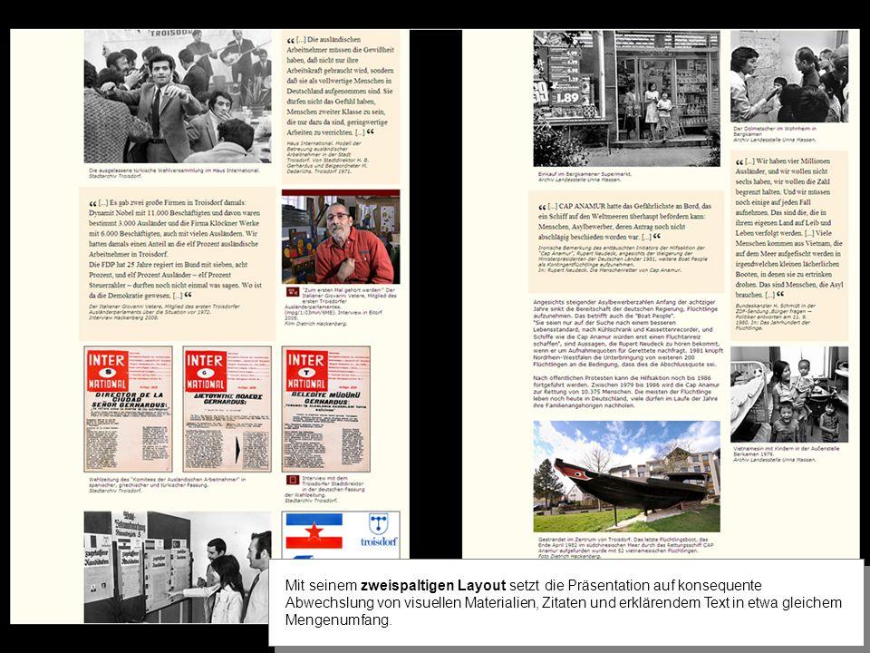 Popup Lexika öffnen sich aus den rot gefärbten Begriffen im Hintergrundtext.