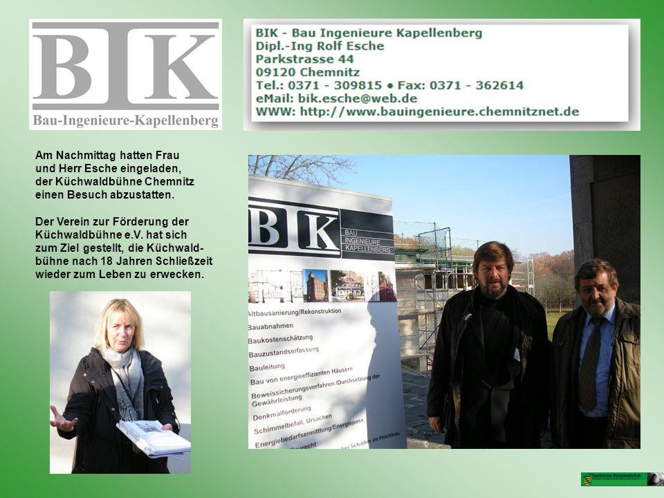 Am Nachmittag hatten Frau und Herr Esche eingeladen, der Küchwaldbühne Chemnitz einen Besuch abzustatten. Der Verein zur Förderung der Küchwaldbühne e