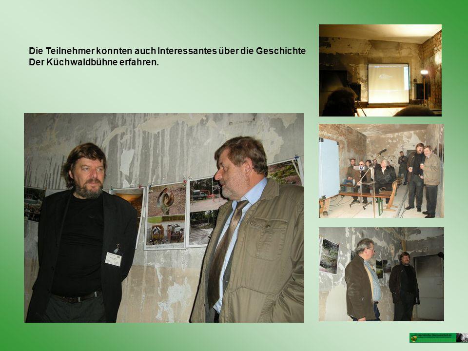 Die Teilnehmer konnten auch Interessantes über die Geschichte Der Küchwaldbühne erfahren.