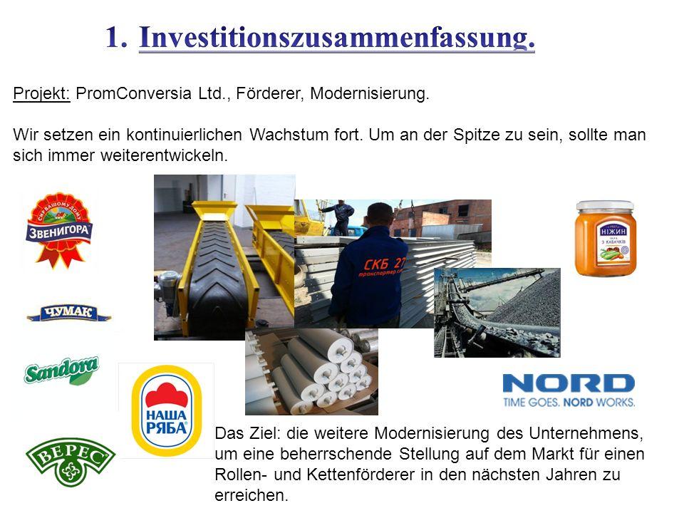 Projekt: PromConversia Ltd., Förderer, Modernisierung.