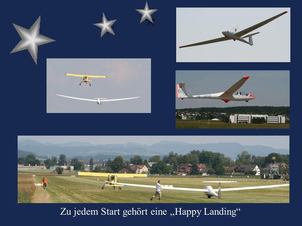 Zu jedem Start gehört eine Happy Landing