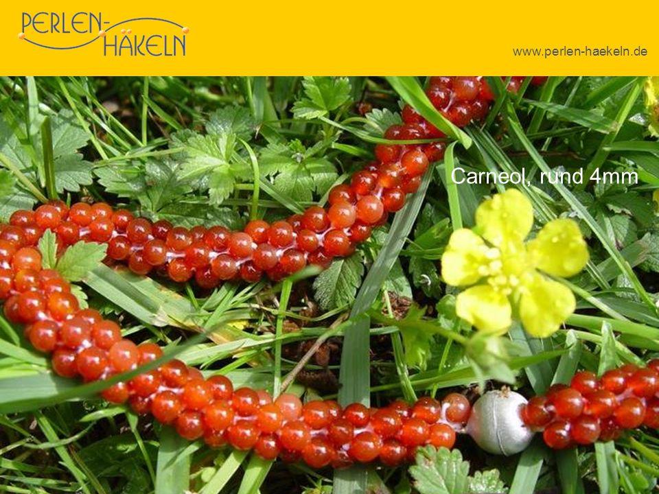 www.perlen-haekeln.de Schaumkoralle Carneol, rund 4mm