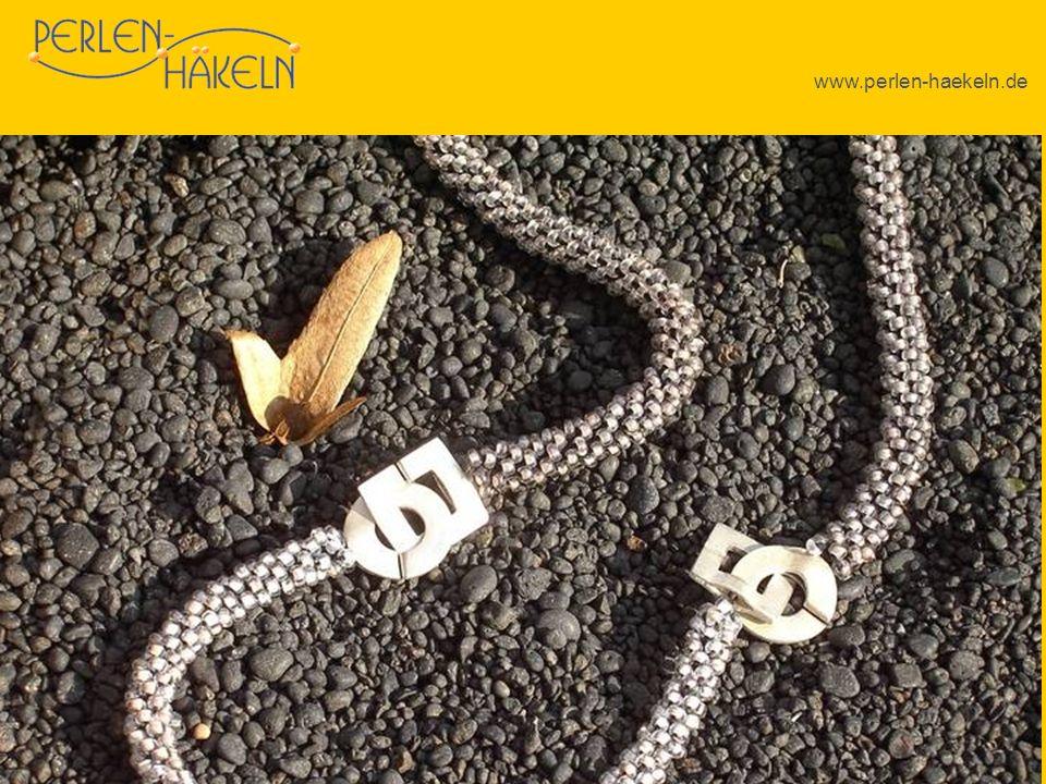 www.perlen-haekeln.de Auch die Verlängerung einer Kette durch das passende Armband ist fast immer möglich