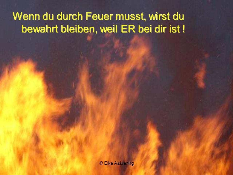 © Elke Aaldering ER ist bei dir, wenn du durch Wasser gehst!