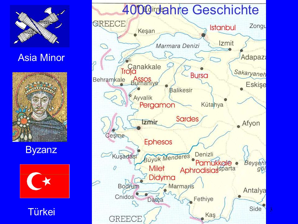 3 Karte Byzanz Asia Minor Türkei 4000 Jahre Geschichte