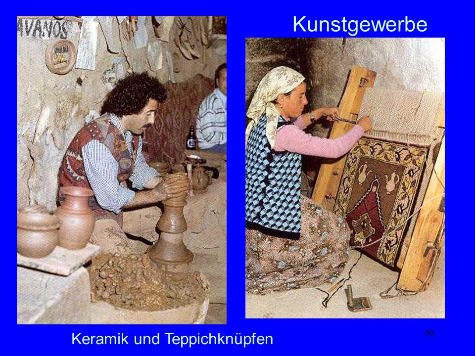 68 Kunstgewerbe Keramik und Teppichknüpfen