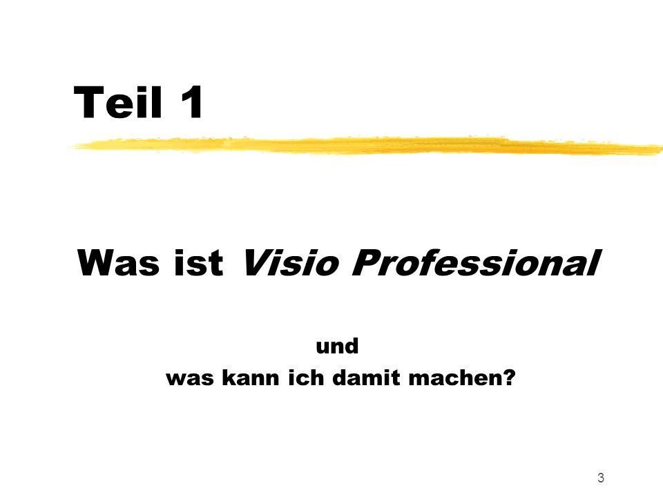 3 Teil 1 Was ist Visio Professional und was kann ich damit machen?
