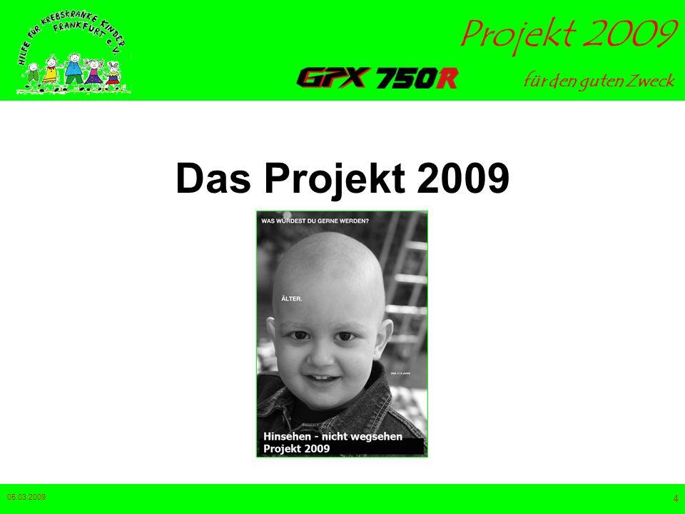 für den guten Zweck Projekt 2009 05.03.2009 4 Das Projekt 2009