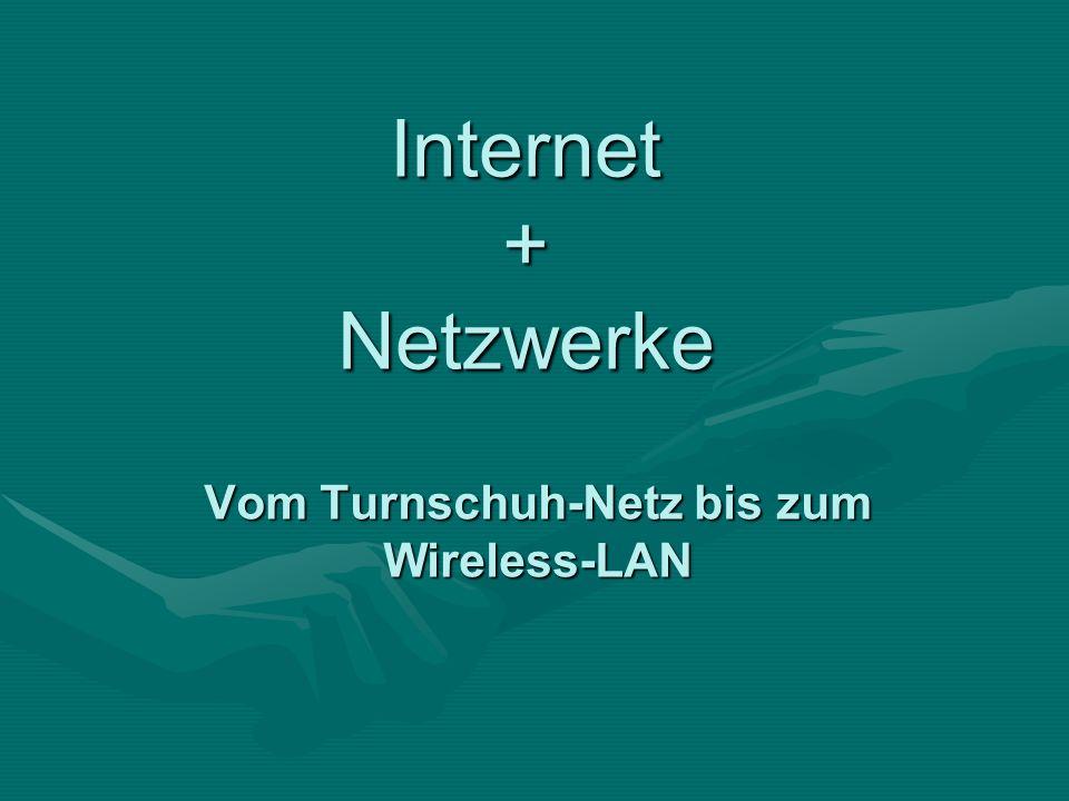 Internet + Netzwerke Vom Turnschuh-Netz bis zum Wireless-LAN