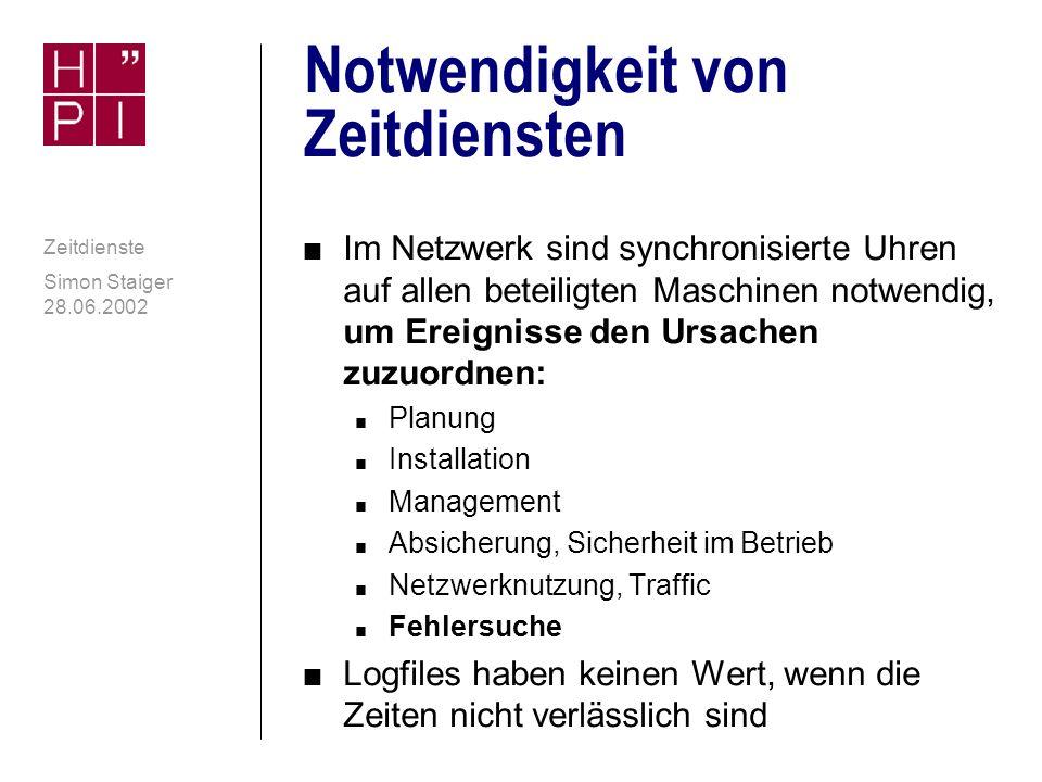 Simon Staiger 28.06.2002 Zeitdienste Umstellung von Sommer- und Winterzeit contd.