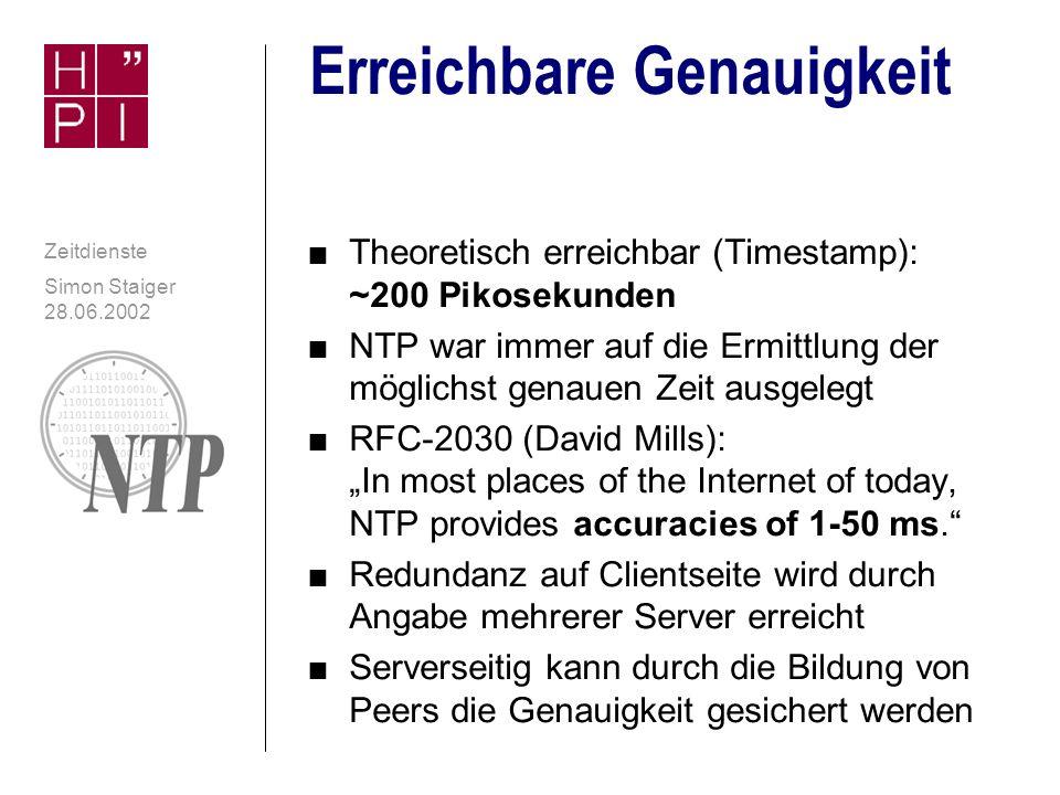 Simon Staiger 28.06.2002 Zeitdienste Berechnung des Offset contd.