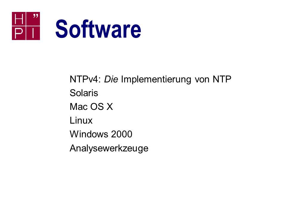 Simon Staiger 28.06.2002 Zeitdienste SNTP: Fast immer ausreichend n Funktionalität für die meisten Anwendungen ausreichend n Besonders auf Wintel-Systemen verbreitet n Client integriert Windows 2000 und XP n Auch reine SNTP-Serversoftware verfügbar