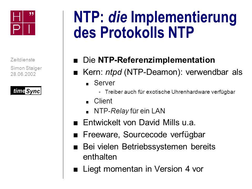 Software NTPv4: Die Implementierung von NTP Solaris Mac OS X Linux Windows 2000 Analysewerkzeuge