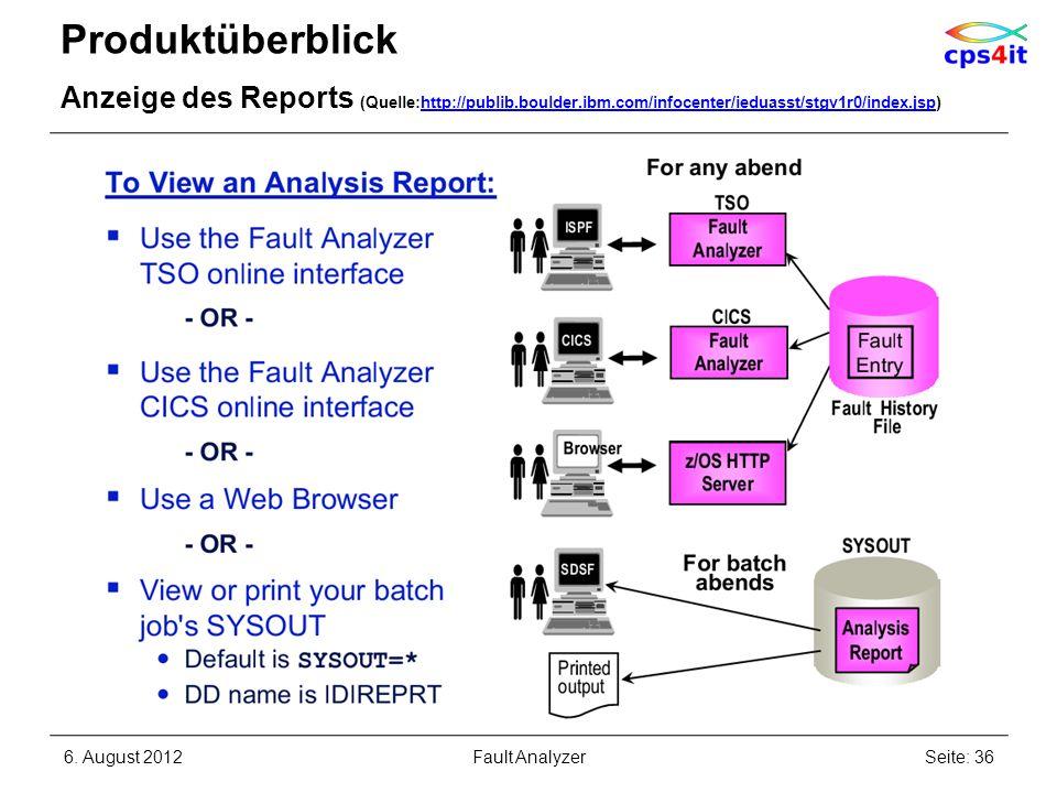 Produktüberblick Anzeige des Reports (Quelle:http://publib.boulder.ibm.com/infocenter/ieduasst/stgv1r0/index.jsp)http://publib.boulder.ibm.com/infocen