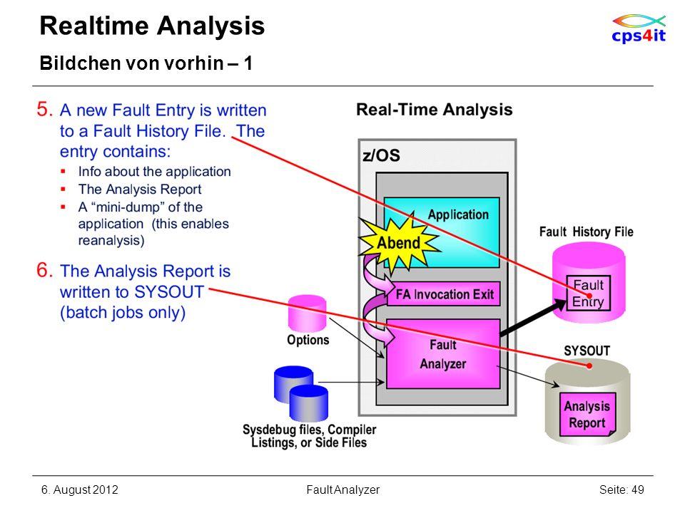 Realtime Analysis Bildchen von vorhin – 1 6. August 2012Seite: 49Fault Analyzer