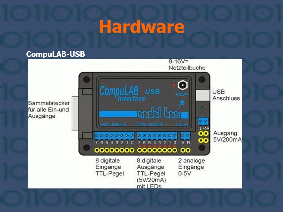 Hardware USB-Kabel Typ-A-Stecker Typ-B-Stecker Unser Controller besitzt eine Typ-B-Buchse, daher benötigen wir den Typ-B-Stecker.